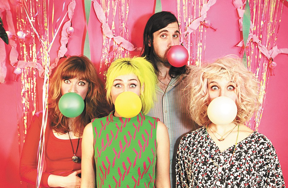 Tacocat brings colorful pop hooks with their punk-rock attitude.