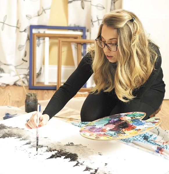 Tara Steinmetz at work in her home studio. - YOUNG KWAK