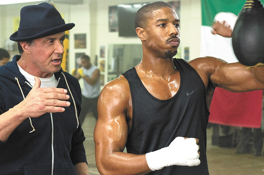 Stallone has just a supporting role in the latest installment of the Rocky franchise.