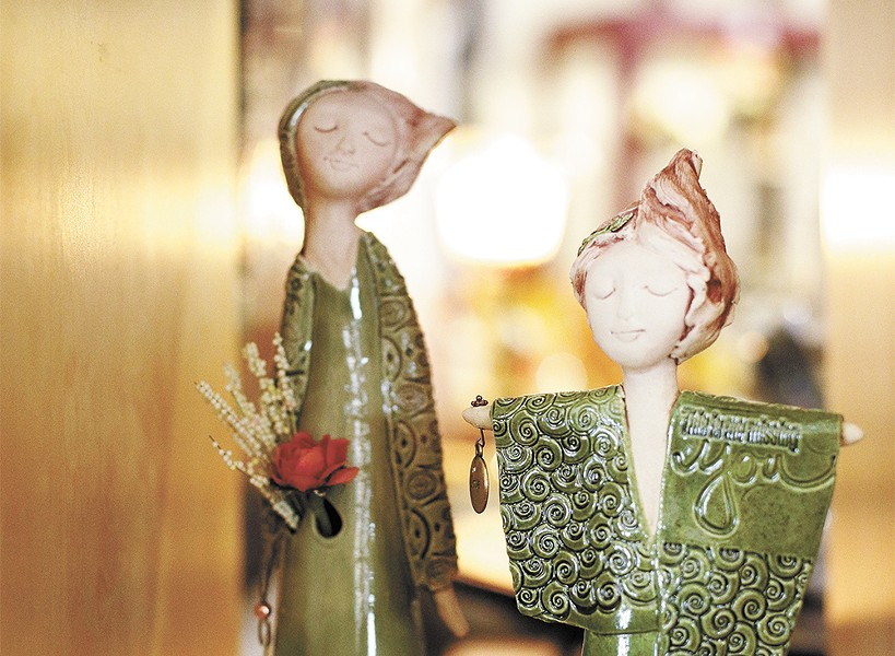 Sculptures by Spokane Artist Sheri Ritchie on display at New Moon Gallery. - YOUNG KWAK