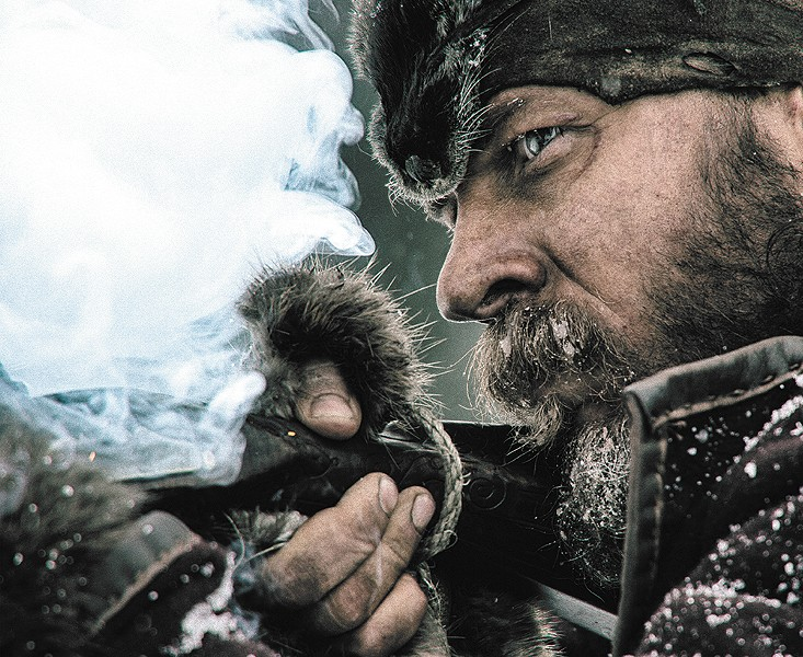 A rare clear view from Leonardo DiCaprio's new flick.