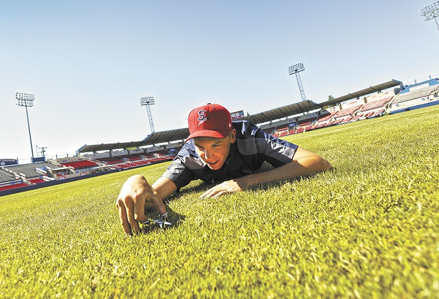 The Spokane Indians' now-former groundskeeper David Yearout just got a job in the major leagues with the Philadelphia Phillies. - YOUNG KWAK