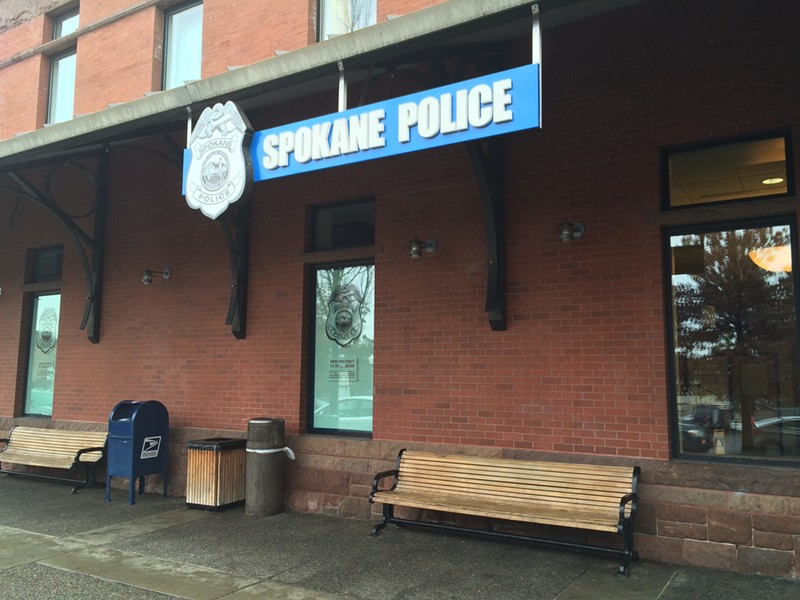 The new Spokane police precinct at the Intermodal Transit Center - MITCH RYALS PHOTO