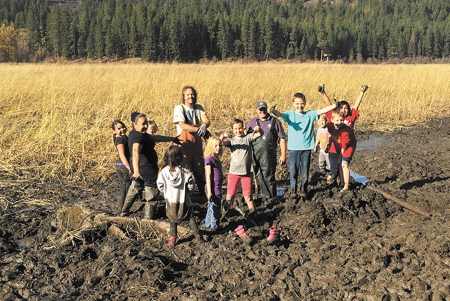 The Coeur d'Alene Tribe offered kids a chance to learn about Indian culture and food through digging water potatoes last fall. - LOVINA LOUIE