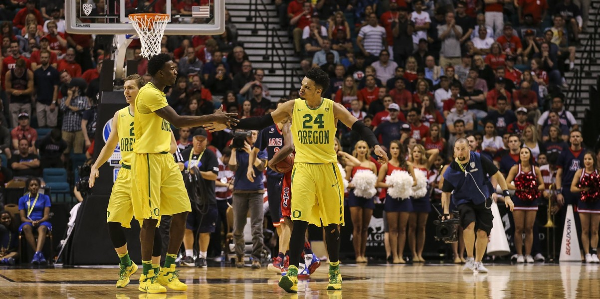 The Oregon Ducks are the No. 1 seed in the NCAA West Region, and coming to Spokane to play. - OREGON ATHLETICS