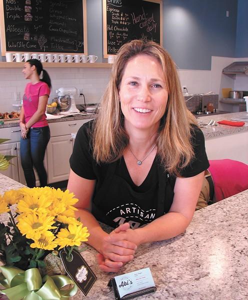 Abi's Ice Cream owner Maren Scoggins. - CARRIE SCOZZARO