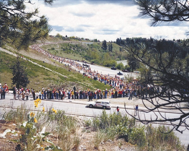 Spokanites getting in their steps in 1979, well before Fitbit staring counting. - BLOOMSDAY
