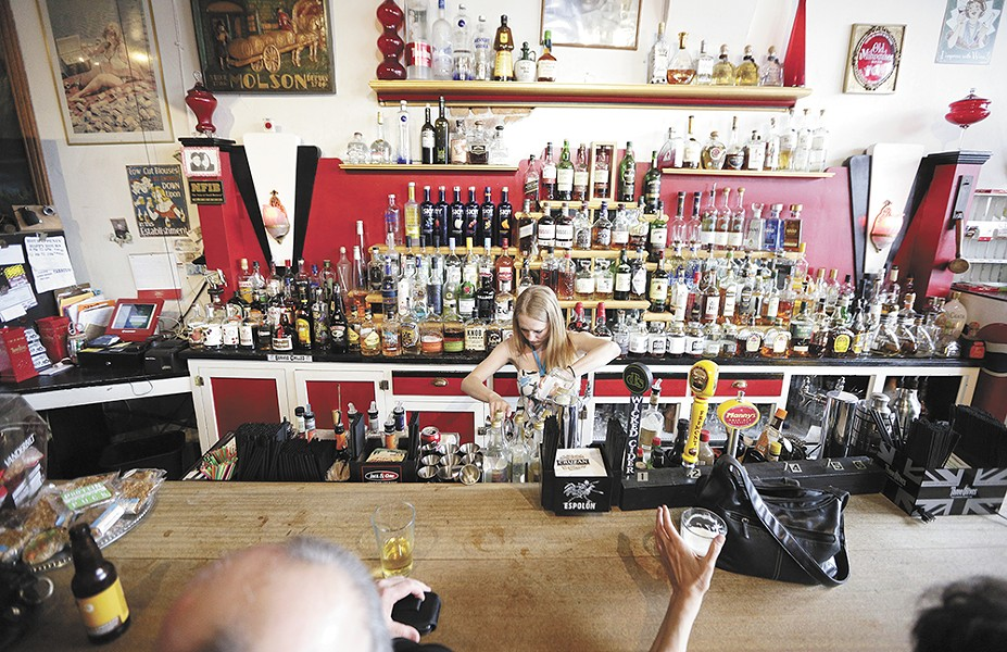 The Checkerboard Bar first opened in 1933. Brandy Miller can now be found behind the bar. - YOUNG KWAK