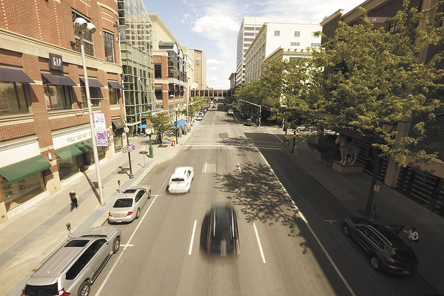 The Cowles Company, which owns the Spokesman-Review and River Park Square, has remained a staunch skeptic of turning Main Street into a two-way street. - YOUNG KWAK