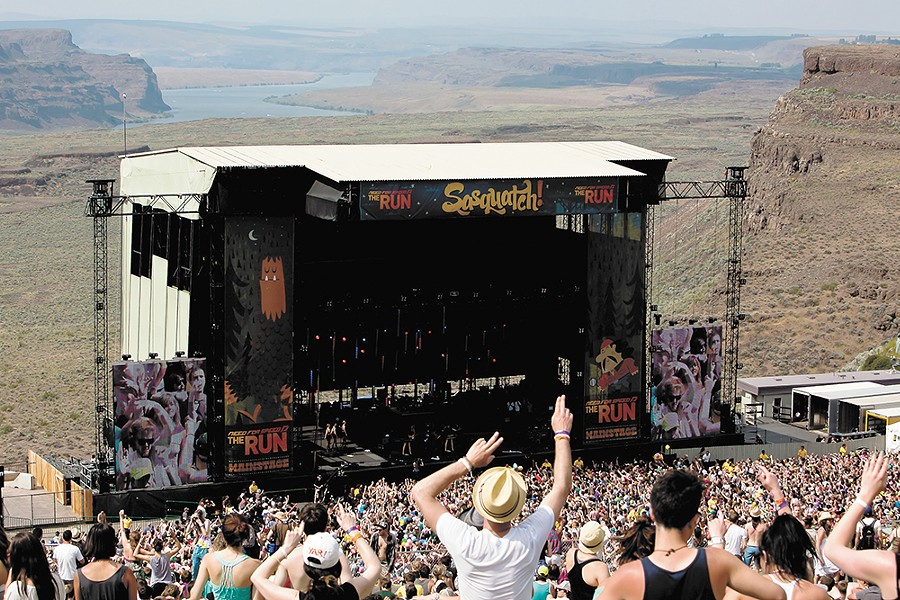 The Sasquatch! main stage sits right in front of one of the best views in Washington.