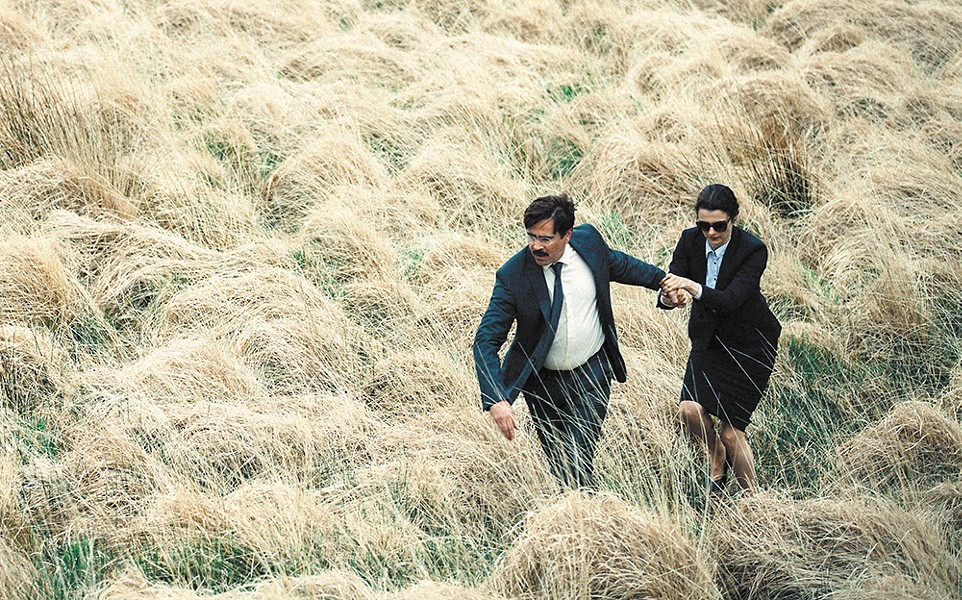 Colin Farrell and Rachel Weisz in The Lobster.