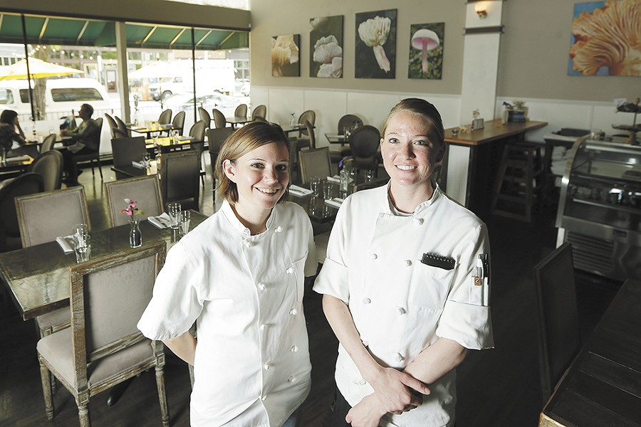 Lynette (left) and Abby Pflueger have cooked all over the country and now lend their skills to Santé's renowned kitchen. - YOUNG KWAK