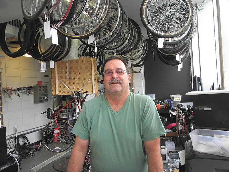Got a problem with your bike? Doug Porter at Mosaic Community Bike shop can fix it. - JAKE THOMAS