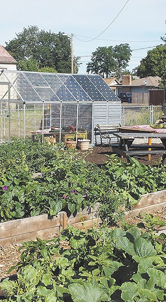 The new community garden has already become a main gathering place. - BLYTHE THIMSEN