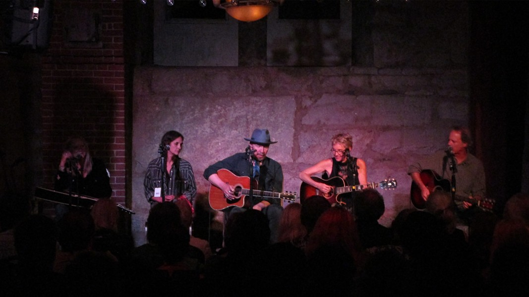 (left to right) Cindy Cashdollar, Christy McWilson, Dave Alvin, Eliza Gilkyson, Rick Shea - DAN NAILEN