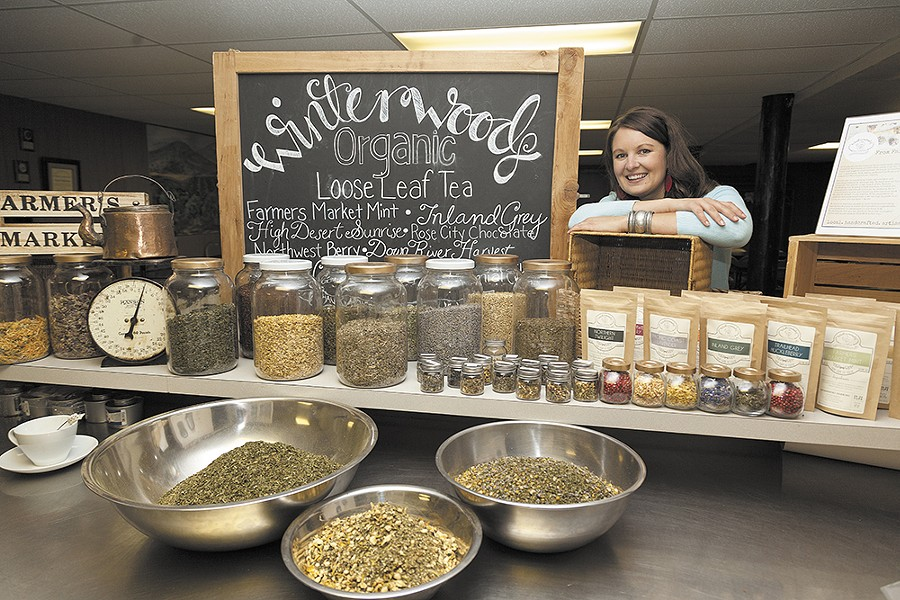 Tirza Wibel, owner of Winterwoods Tea Co. - TIMOTHY PHILLIPS