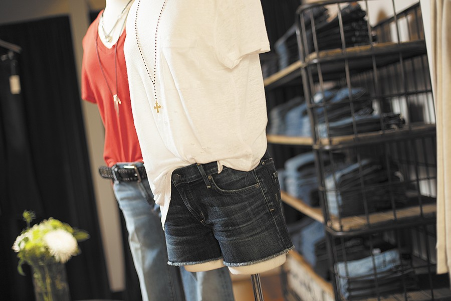 Designer jeans and tees reign at Cues. - YOUNG KWAK
