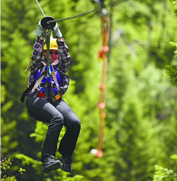 Silver Streak Zipline Tours is located in Wallace, Idaho. - YOUNG KWAK