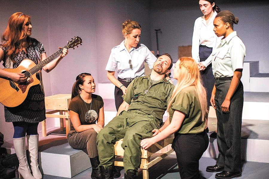 Stage Left's ensemble cast takes us back to the Vietnam War in A Piece of My Heart. - JENNIFER DEBARROS