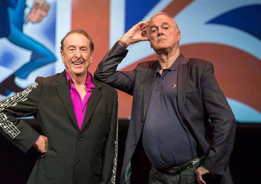 Monty Python founders Eric Idle (left) and John Cleese are coming to Spokane Friday.