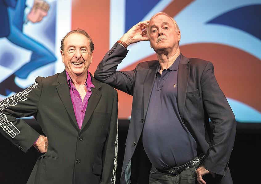 Eric Idle (left) and John Cleese have been delivering laughs together since the 1960s. - ROD MILLINGTON