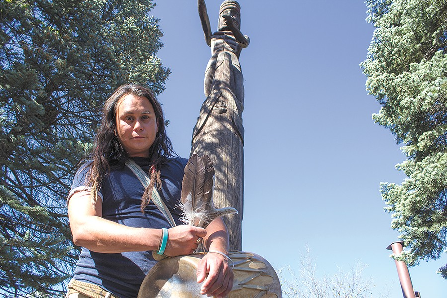 Jacob Johns is an artist, hairstylist and prominent Native American activist. - SARAH PHILP