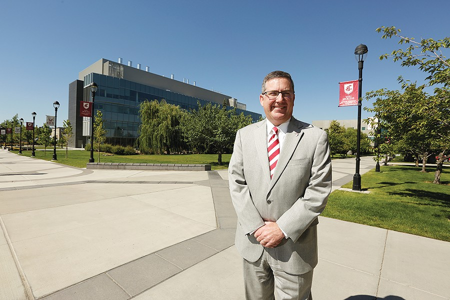 Washington State University President Kirk Schulz at the WSU-Spokane campus. - YOUNG KWAK