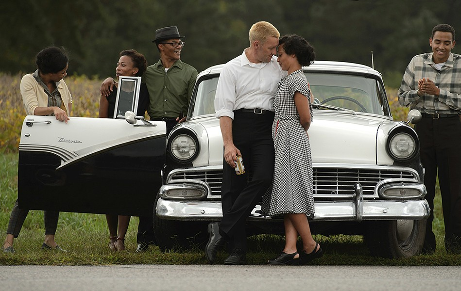 Joel Edgerton (front left) and Ruth Negga both shine in Loving.