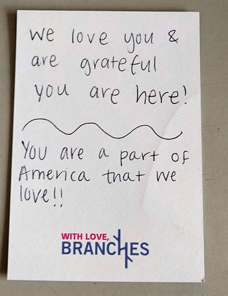 """You are a part of America that we love!!"""