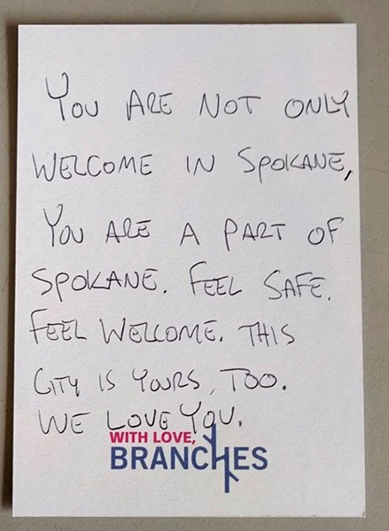 """You are not only welcome in Spokane, you are part of Spokane."""