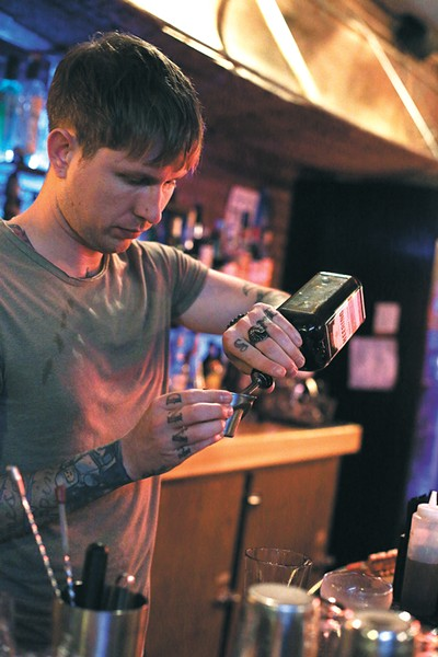 "Shawn Heale, a bartender at Garageland, often makes a ""Remember the Maine,"" as a ""surprise"" cocktail. - YOUNG KWAK"