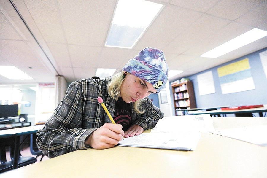 After he earns his GED at the SAC school, 16-year-old Spencer wants to take courses at a local community college. - YOUNG KWAK