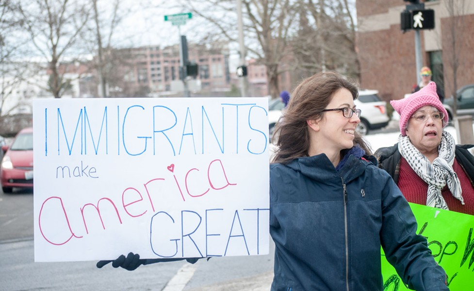 """Immigrants make America great."" - DANIEL WALTERS PHOTO"