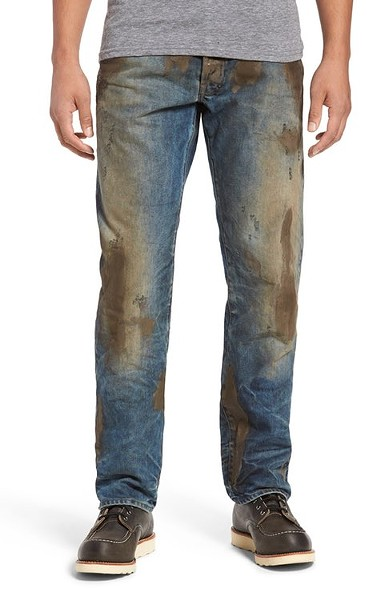 These jeans aren't really muddy, but they are really $425.