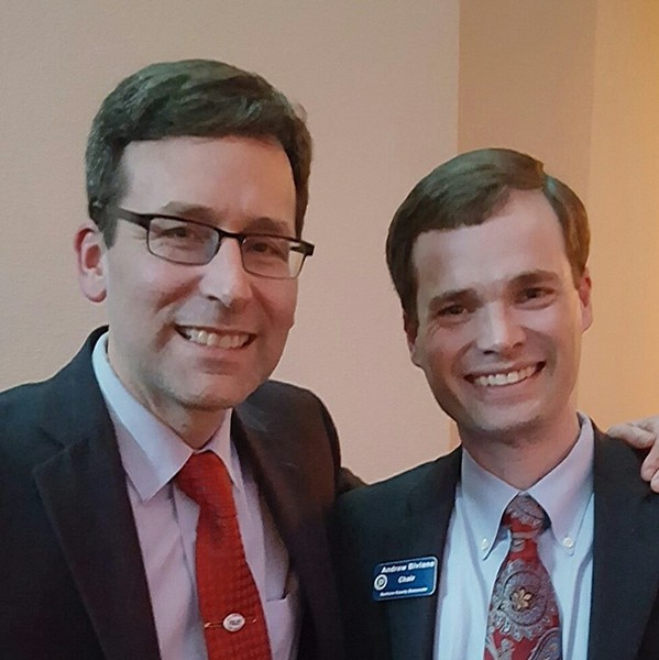 Attorney General Bob Ferguson (left) has recused himself from the investigation into the Spokane County Democrats. The Democrats' chair, Andrew Biviano (right), says the party is still working hard to correct previous errors. - FACEBOOK PROFILE PHOTO FOR ANDREW BIVIANO