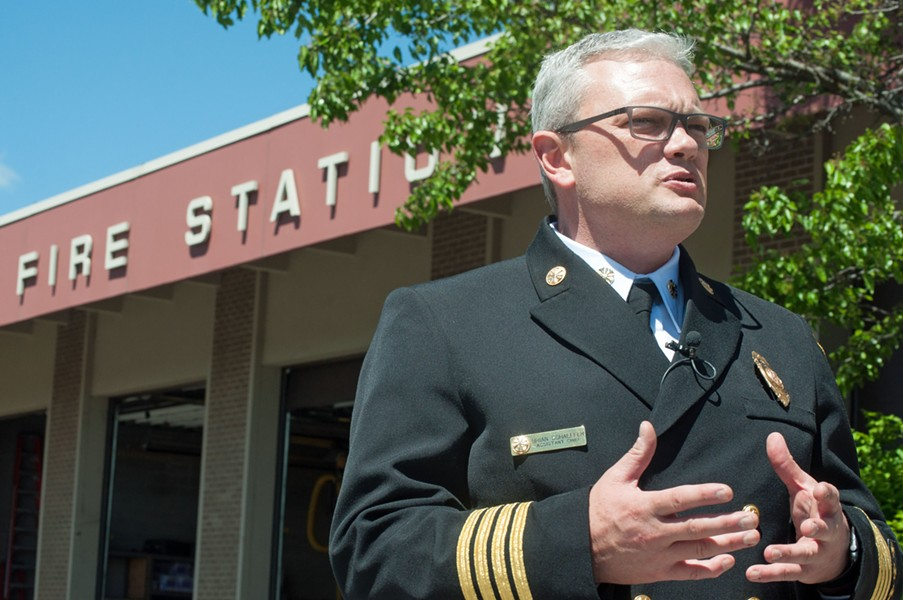 Brian Schaeffer was officially appointed the new Spokane fire chief on Wednesday. - DANIEL WALTERS PHOTO