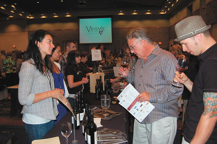 Sample wines at Vintage Spokane July 23 at the Davenport Grand Hotel.