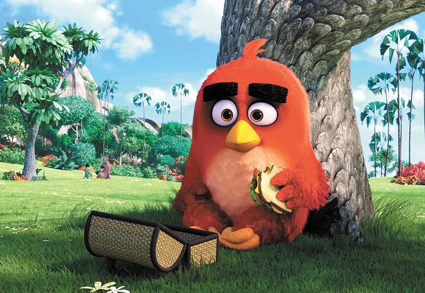 Watch Angry Birds for free on the big screen at the Garland Theater.