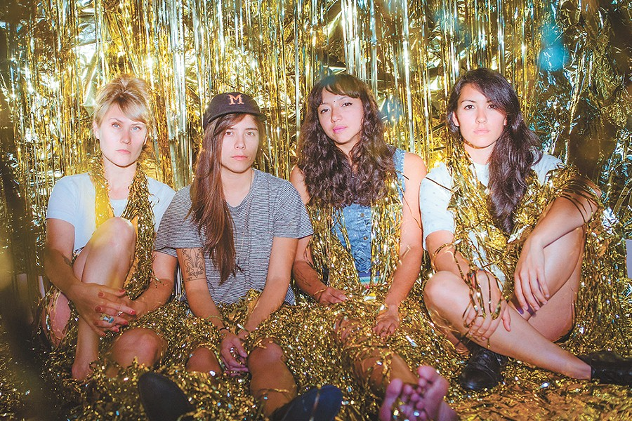 Shana Cleveland, second from right, channels the vastness of Los Angeles on La Luz's upcoming third record. - ANDREW IMANAKA