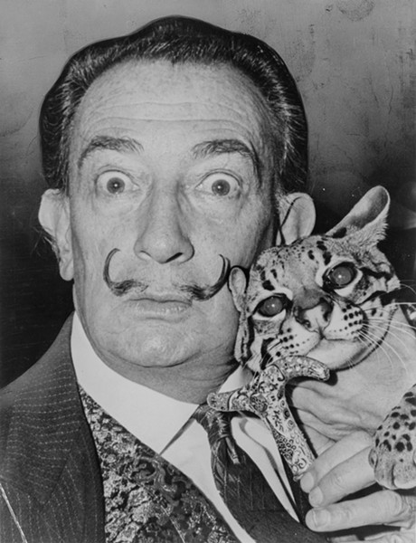 Surrealist painter Salvador Dalí - ROGER HIGGINS, WORLD TELEGRAM STAFF PHOTOGRAPHER, VIA WIKIMEDIA COMMONS