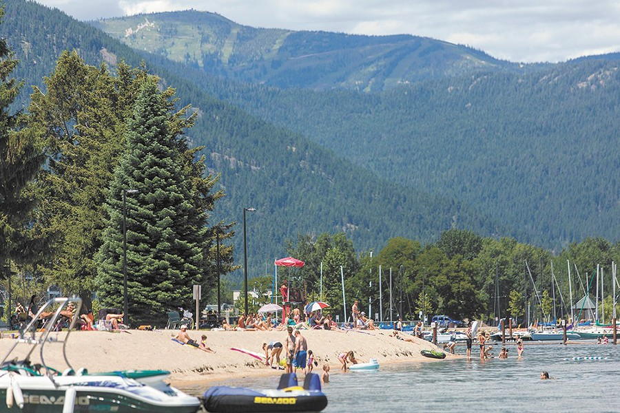 City Beach in Sandpoint