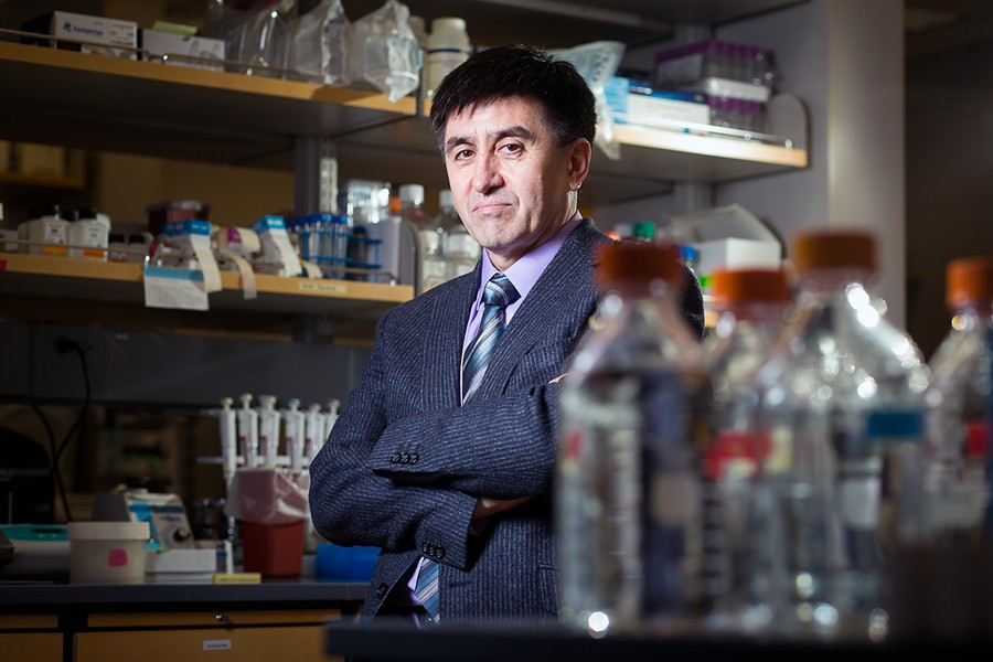 Shoukhrat Mitalipov, director of the Center for Embryonic Cell and Gene Therapy at Oregon Health and Science University, in Beaverton, Ore., March 11, 2014. Mitalipov was a senior author on a study published on Aug. 2, 2017 detailing how scientists have for the first time successfully edited genes in human embryos to repair a serious disease-causing mutation. - LEAH NASH/THE NEW YORK TIMES