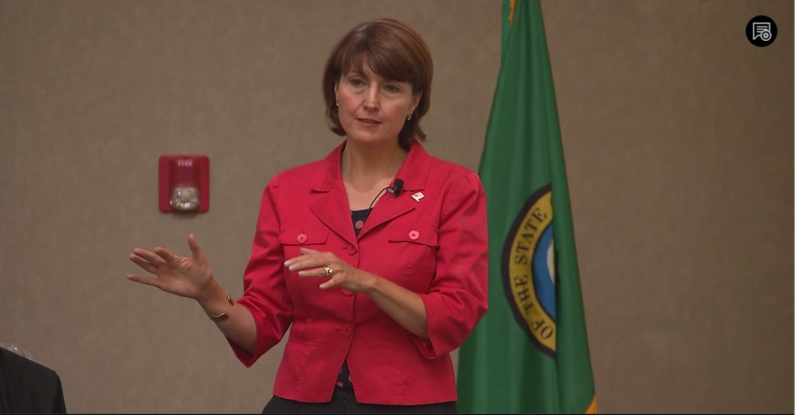 "Congresswoman Cathy McMorris Rodgers, who represents Washington's 5th District, supports defunding ""sanctuary cities"" — but even experts can't agree on what a sanctuary city actually is. - KSPS SCREENGRAB"