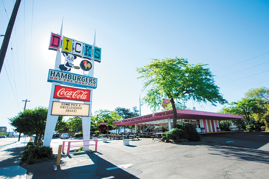 Dick's has been selling burgers by the bagful in Spokane since 1965. - STUART DANFORD