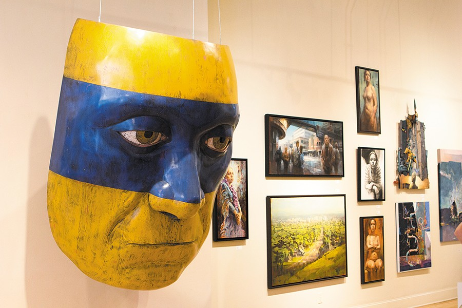 "Michael de Forest's ""The Mask"" at Art Spirit Gallery. - EMMA ROGERS"
