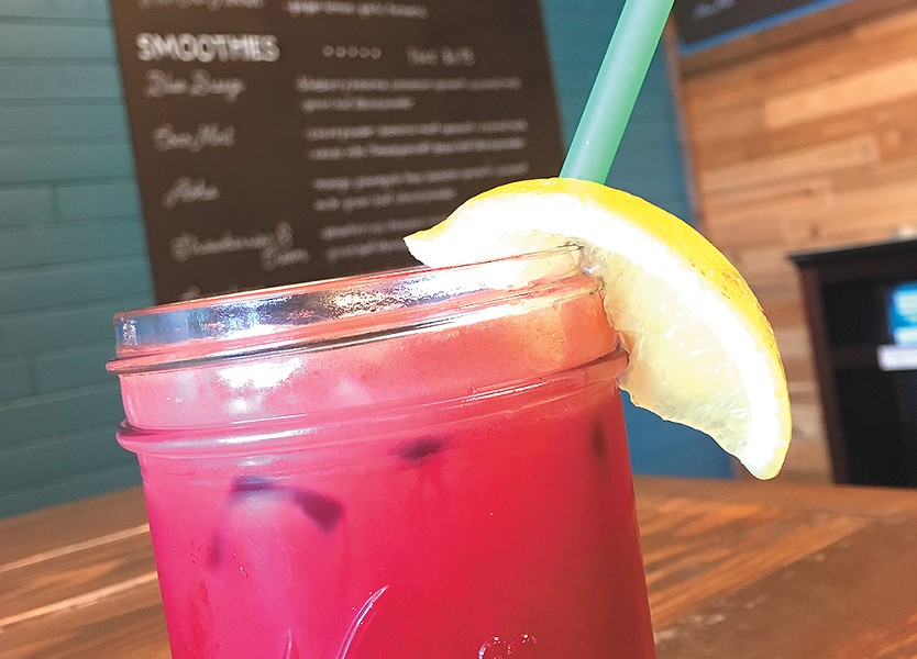 This bright beet smoothie is one of City Beach Organic's many healthful offerings. - CARRIE SCOZZARO