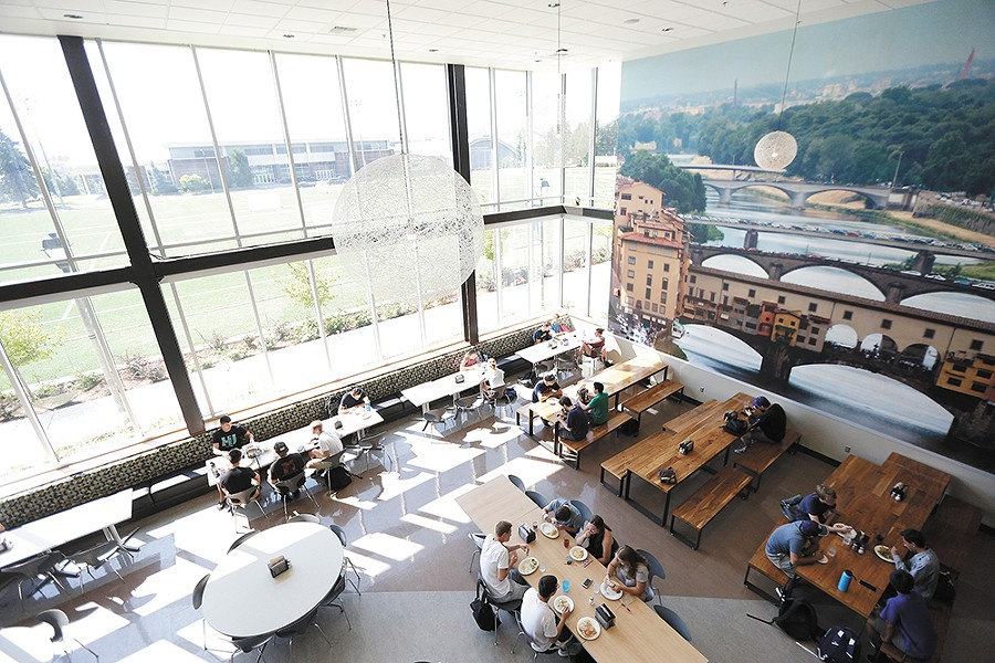 Spokane-area universities like Gonzaga, pictured here, are taking a new approach to campus dining. - YOUNG KWAK