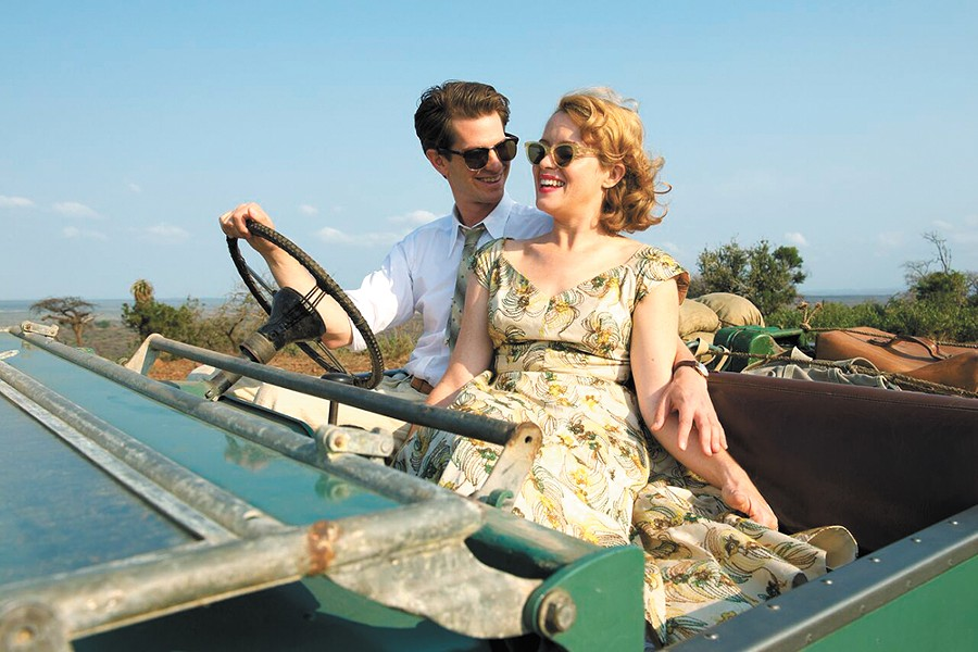 Andrew Garfield and Claire Foy before their lives are torn asunder by polio in Breathe.