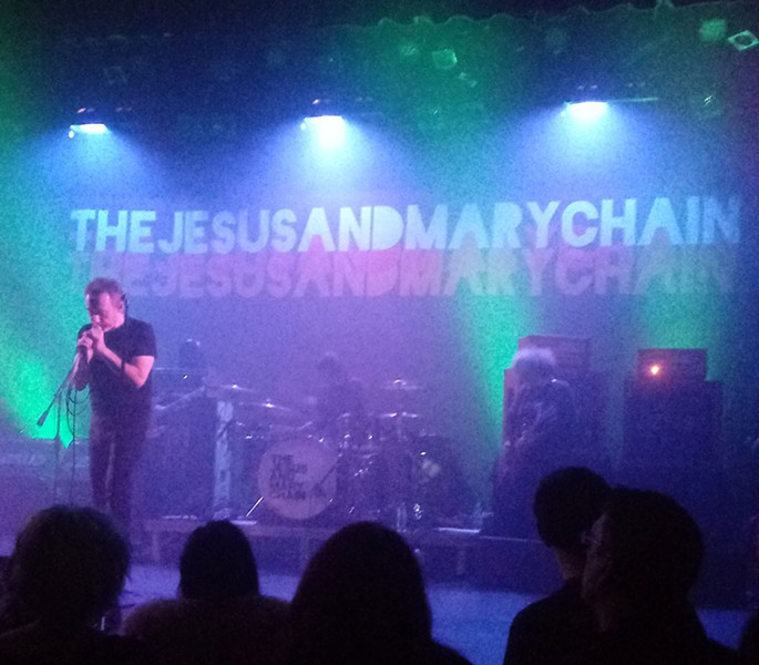 Jim Reid (left) was the most active member of the Jesus and Mary Chain on stage, and he didn't move much. - DAN NAILEN