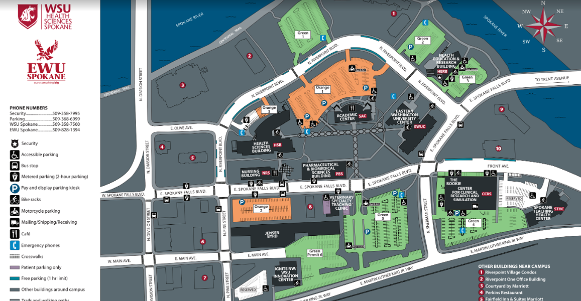 The event will take place in the EWU Center Building, southeast of the Orange lot 1 in this map. - WSU/EWU MAP